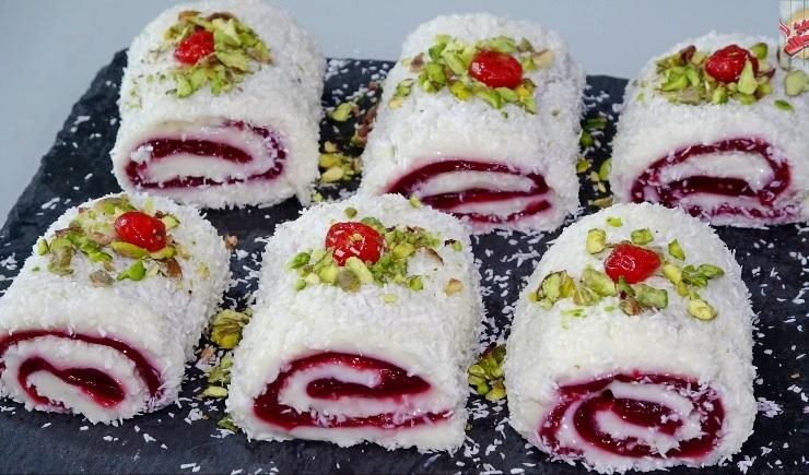 Вишневый Султан Лукум рецепт нежного турецкого десерта Паша Лукум без выпечки
