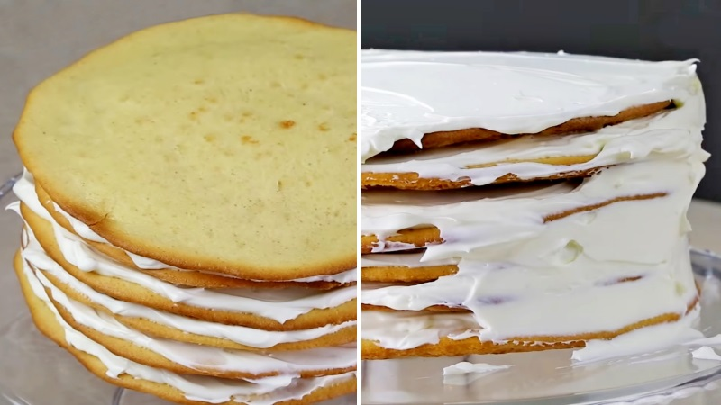 Как собрать торт Молочная девочка без кольца