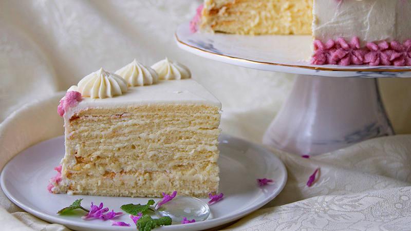 Торт Молочная девочка с пломбирным кремом (Пломбир, Дипломат)