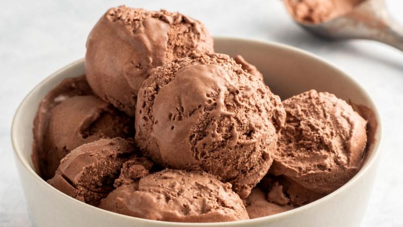 Шоколадное домашнее мороженое простой рецепт