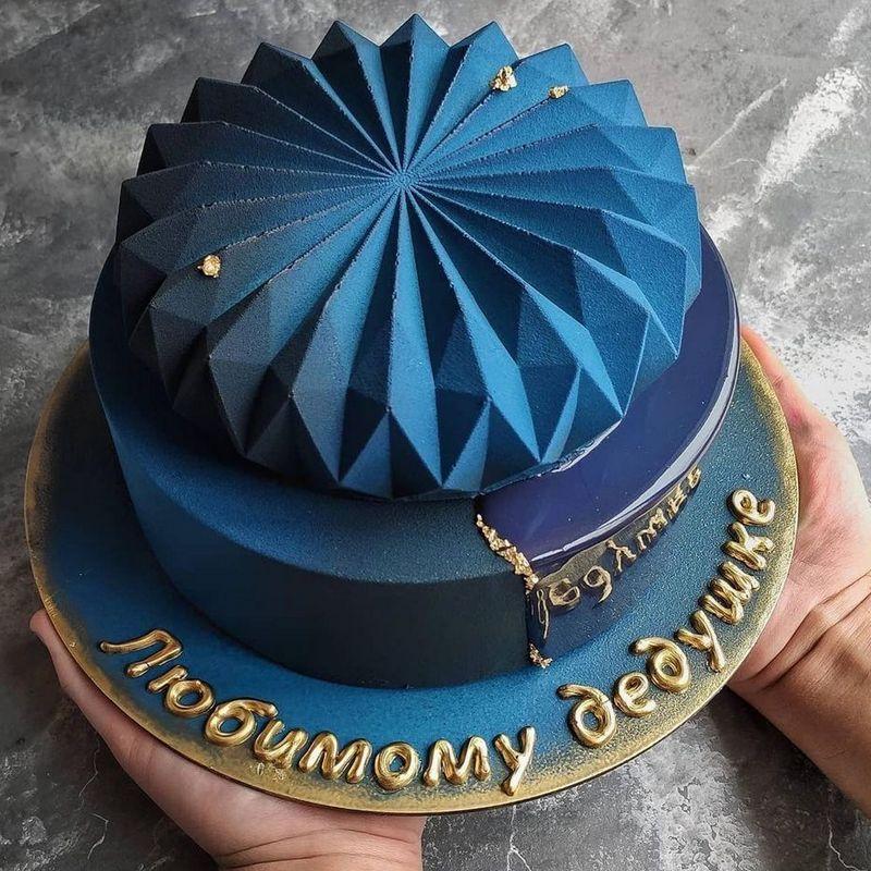 Необычный муссовый 2-ярусный торт мужу мужчине на день рождения