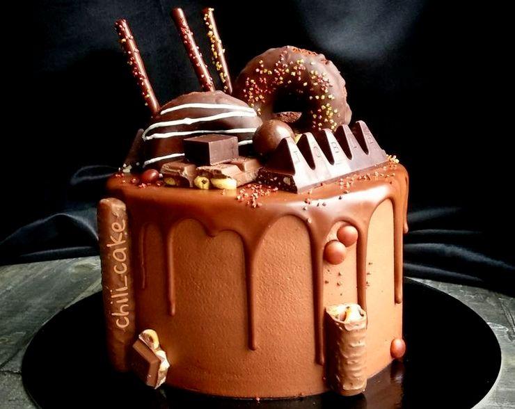 Шоколадный торт мужчине на день рождения