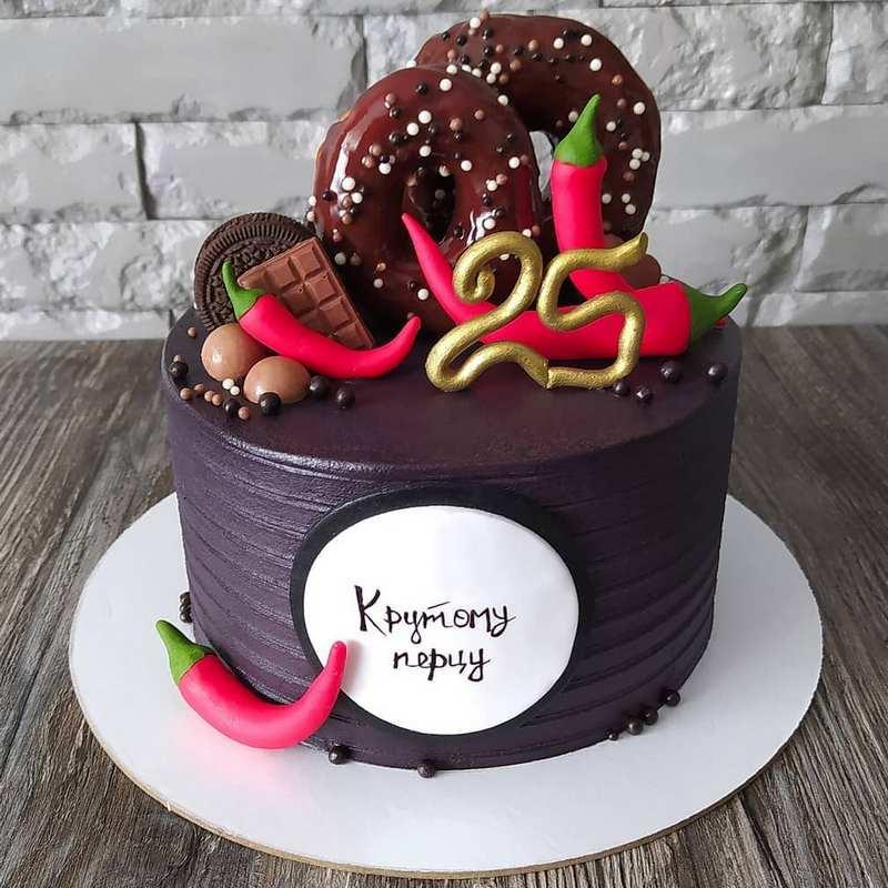 Торт крутому перцу на день рождения на 25 лет мужу мужчине парню