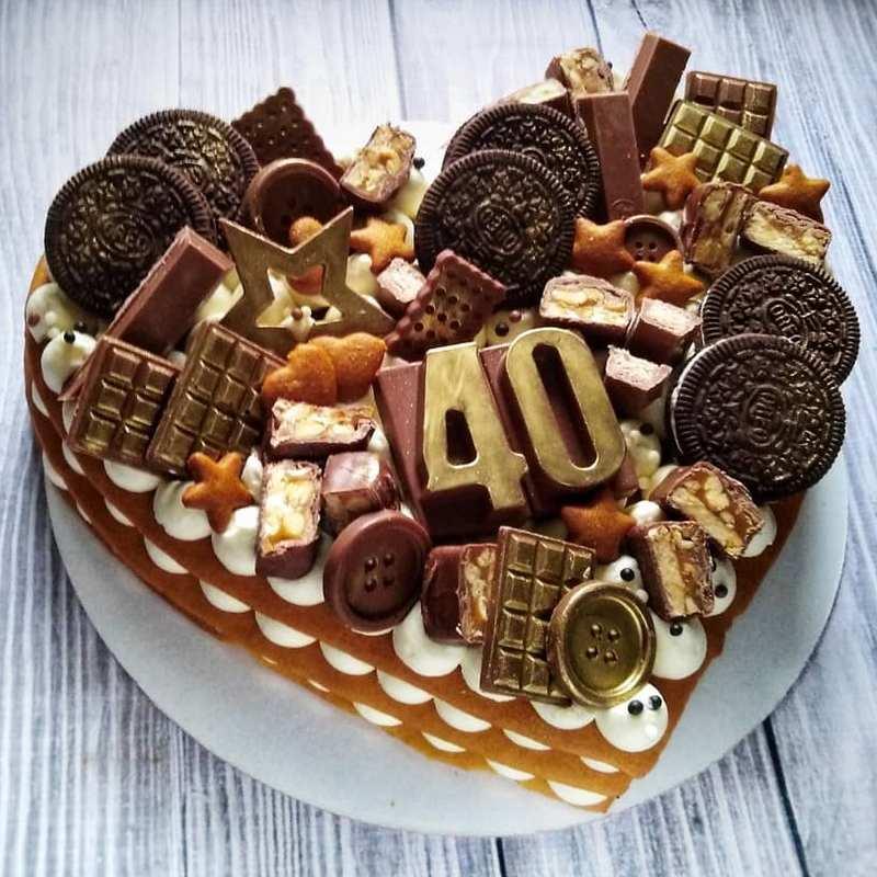 Торт сердце любимому мужу на день рождения