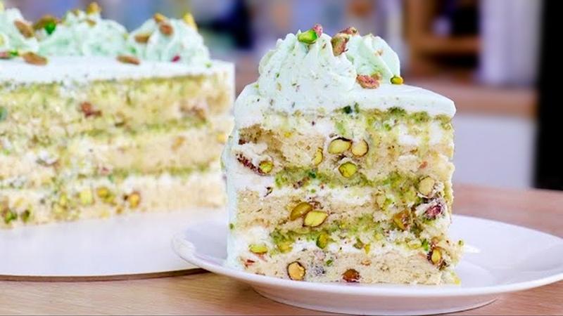 Фисташковый бисквитный торт - пошаговый рецепт с фото