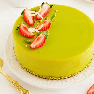 Торт муссовый фисташка клубника - простой рецепт украшение