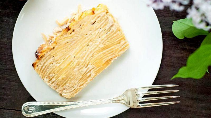Невидимый пирог яблочный без глютена