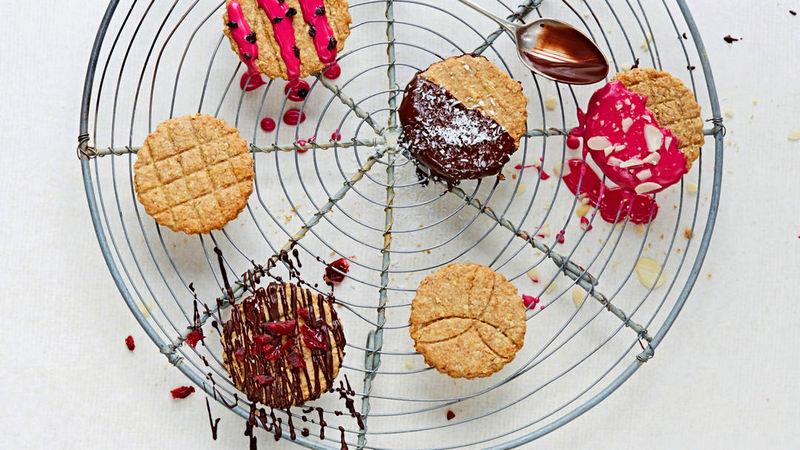 Как украсить овсяное цельнозерновое печенье рецепт
