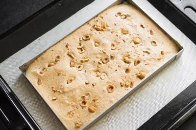 Фундучный бисквит для торта инжир - фундук - кофе шаг 5
