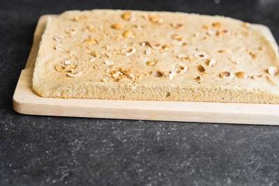 Фундучный бисквит для торта инжир - фундук - кофе шаг 6