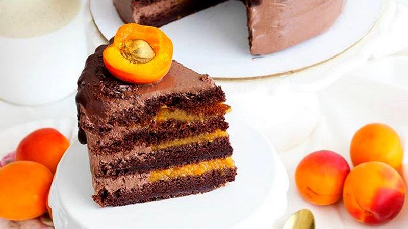 Вкусный ПП торт Прага без сахара с кремом и джемом