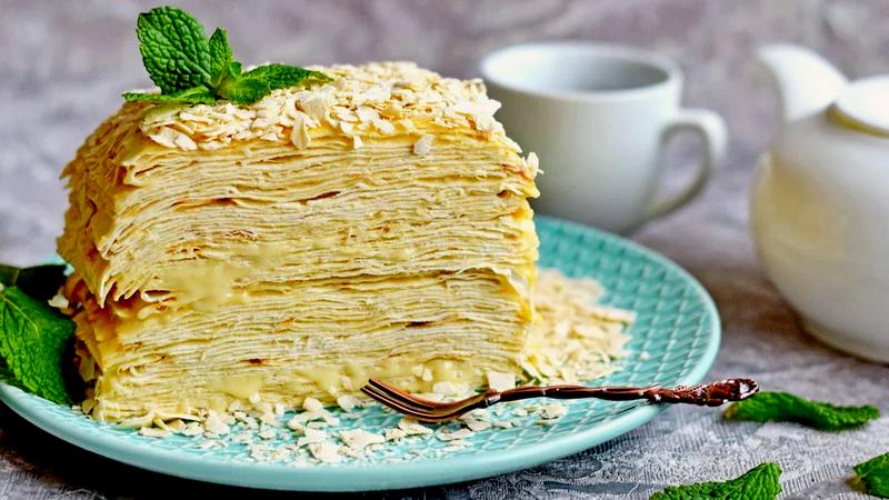 Быстрый и простой ПП торт Наполеон из лаваша