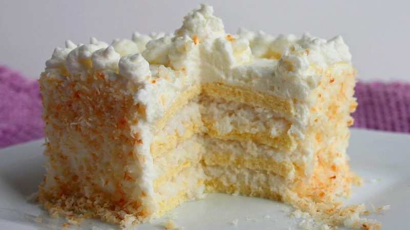Кокосовый ПП торт Рафаэлло без сахара и муки