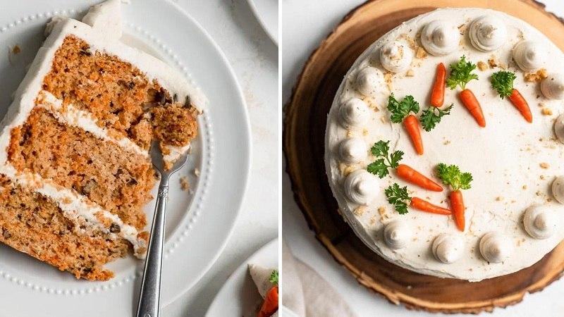 Морковный ПП торт без сахара и яиц - пошаговый рецепт
