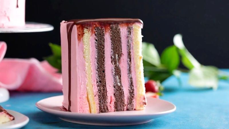 Вертикальный торт из коржей - рецепты
