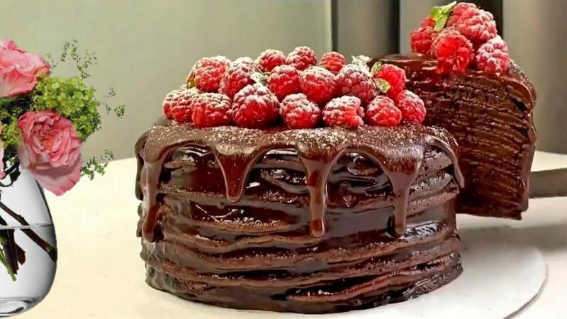ПП блинный торт на сковороде