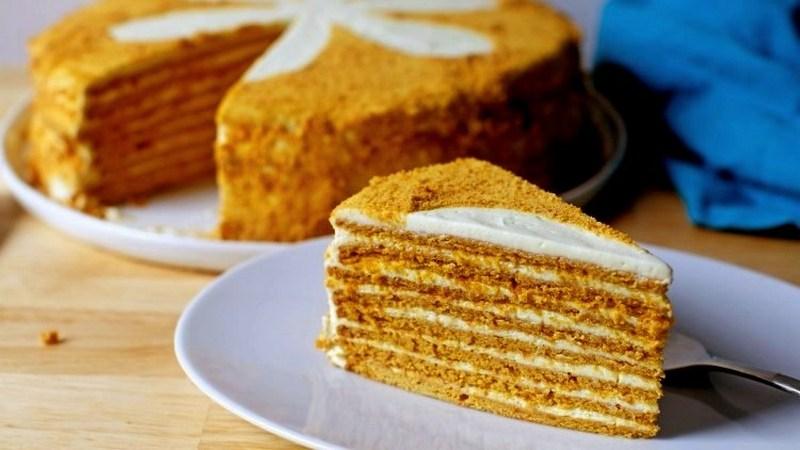 ПП торт Медовик без сахара в домашних условиях