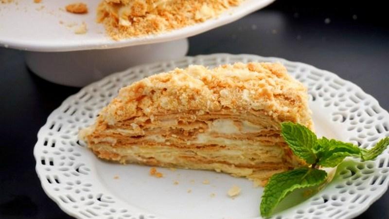 Торт Наполеон без сахара и глютена диетический