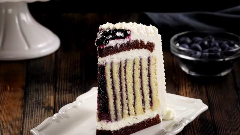 Вертикальный торт из коржей - рецепт пошагово с фото