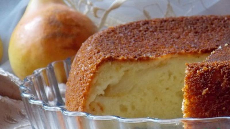 Пирог грушевый с творогом в мультиварке - очень простой рецепт