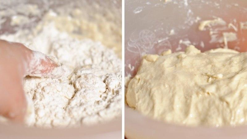 Замешиваем тесто для лодочек