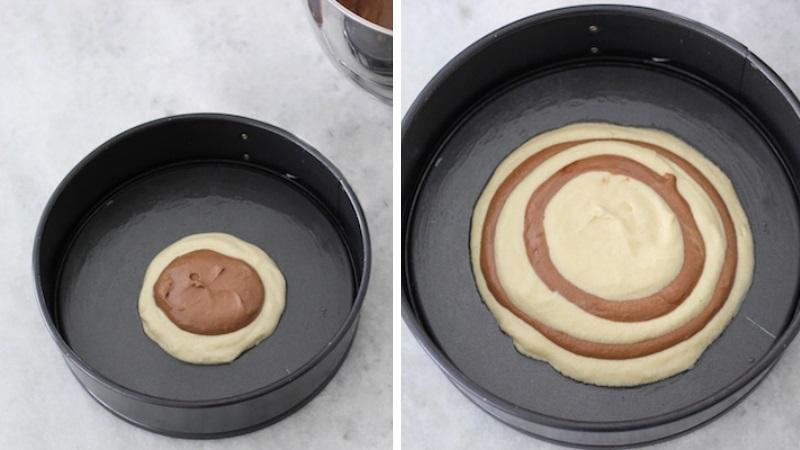 Рецепт пирога Зебра на сметане