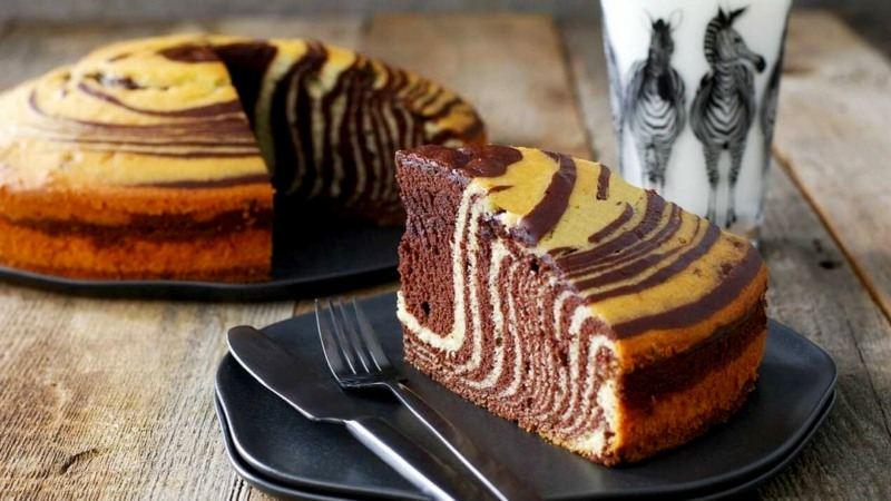 Пирог зебра рецепт пошагово с фото