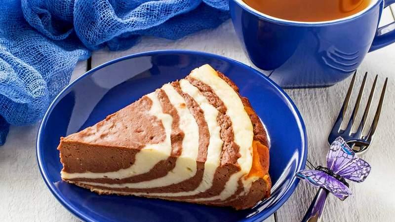 Творожный пирог чизкейк Зебра
