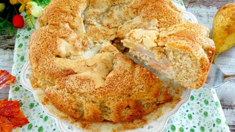 Пирог на кефире с грушами рецепт в духовке пошагово