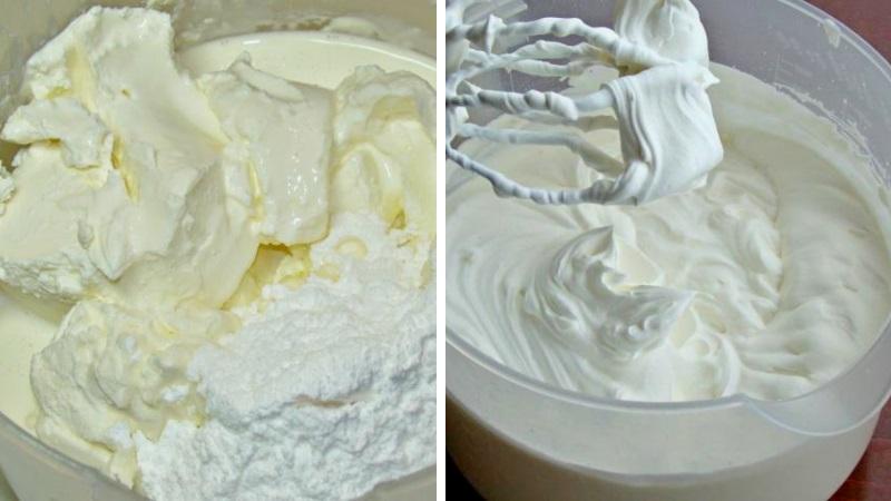 Крем чиз для торта Фисташкового с малиной рецепт пошагово с фото