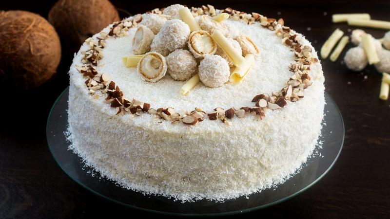 Торт Рафаэлло классический рецепт миндально кокосовый