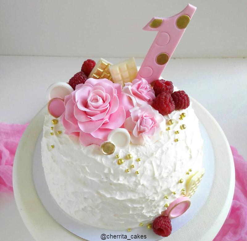 Маленький торт девочке на день рождения 1 год