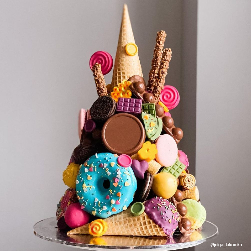 Торт гора сладостей девочке на 10 лет