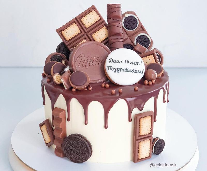 Шоколадный торт девочке на 14 лет