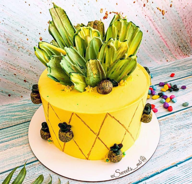 Торт ананас девочке на 10 лет
