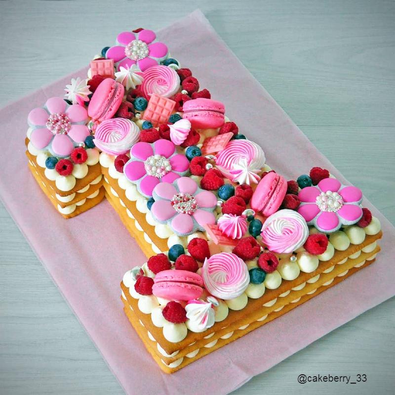 Торт цифра один девочке на день рождения на годик