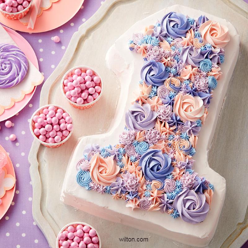 Торт цифра девочке на день рождения на один год