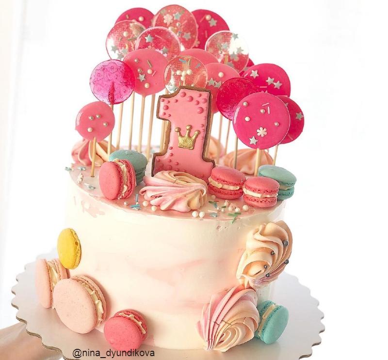 Торт красочный девочке на 1 год