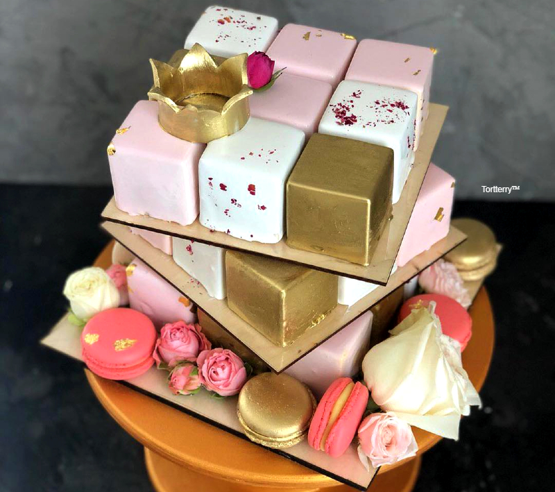 Торт кубик девочке на 10 лет