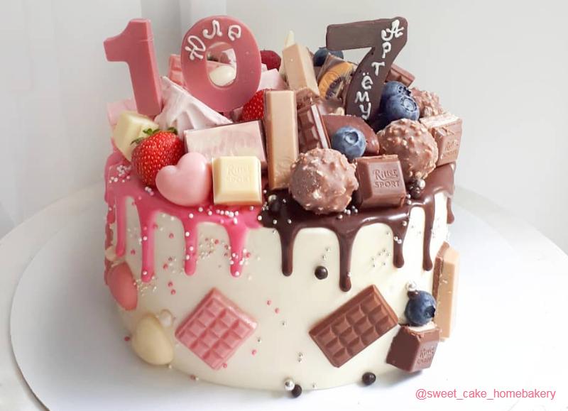 Торт для девочки и мальчика на день рождения 10 лет и 7 лет