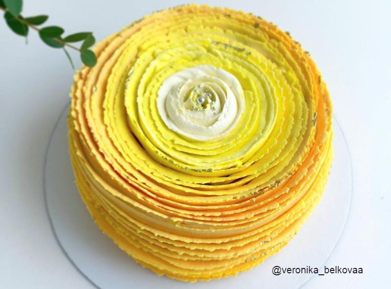 Торт цветок кремовый маме на день рождения необычный