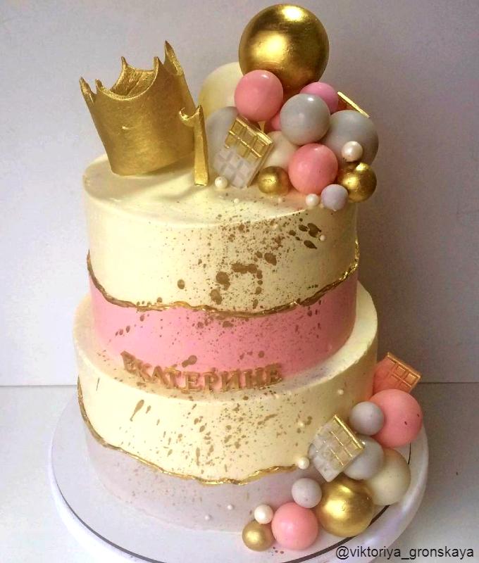Торт для принцессы на год девочке