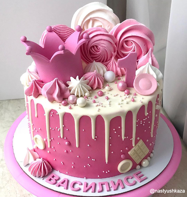 Торт принцессе на год