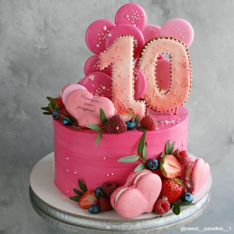 Торт с леденцами девочке на 10 лет