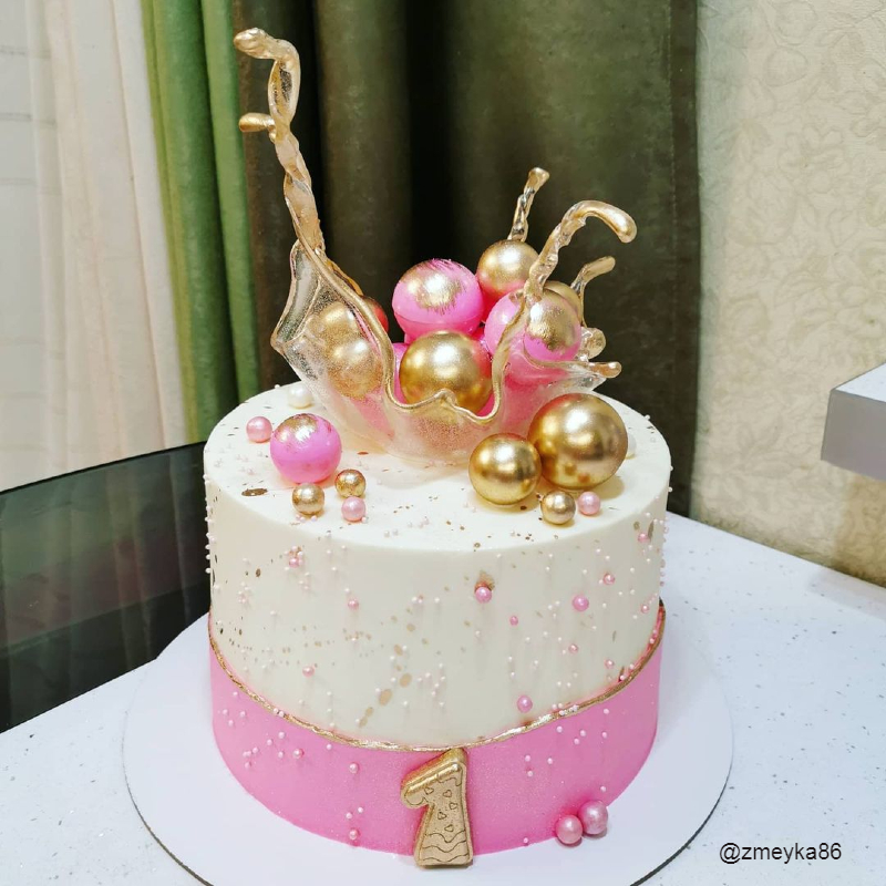 Тортик для девочки на годик