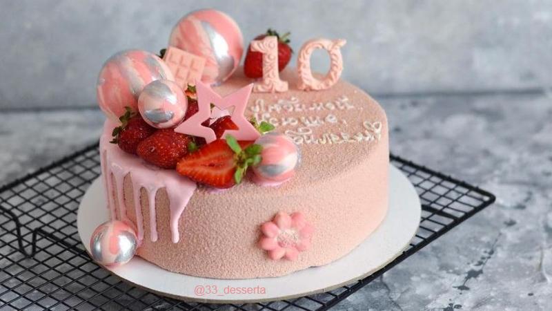 Торт девочке на 10 лет на День рождения