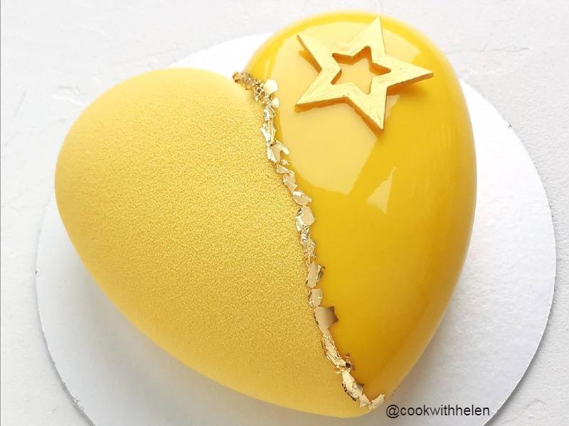Торт сердце муссовое маме на день рождения