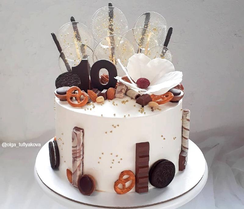 Торт шоколадный девочке на 10 лет