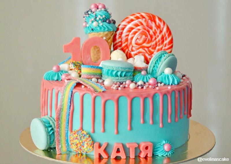 Торт сладости девочке на 10 лет
