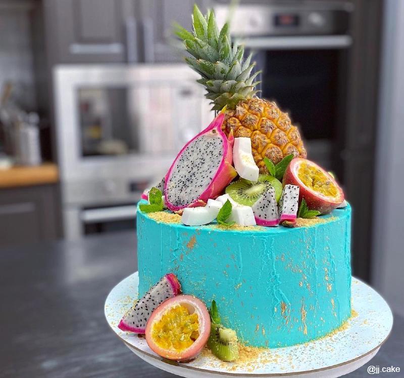 Тропический торт для девочки на 10 лет